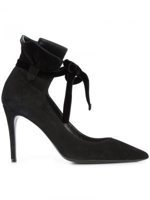 Туфли с завязками на щиколотке Deimille. Цвет: чёрный
