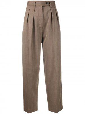 Зауженные брюки в стиле милитари Tela. Цвет: коричневый