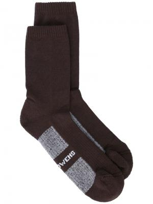Носки Dirt AW18 Rick Owens. Цвет: коричневый