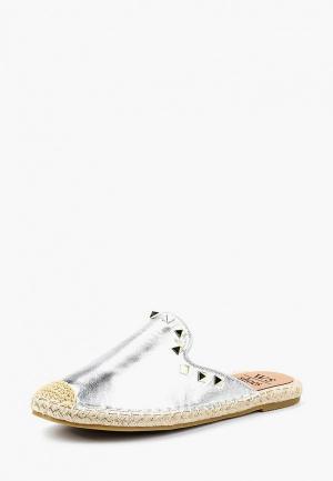 Эспадрильи WS Shoes. Цвет: серебряный
