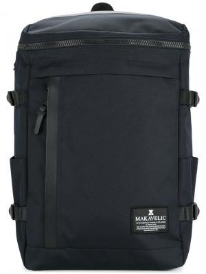 Прямоугольный рюкзак Makavelic. Цвет: синий