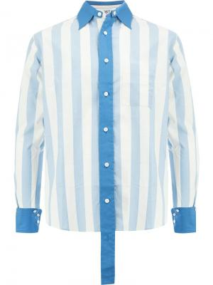 Рубашка в полоску с застежкой на пуговицы Ports 1961. Цвет: синий