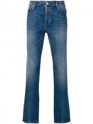 Состаренные джинсы скинни Valentino. Цвет: синий