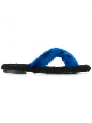 Открытые сандалии St. Moritz Avec Modération. Цвет: синий