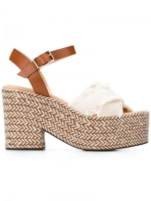 Xareni wedge sandals Castañer. Цвет: белый