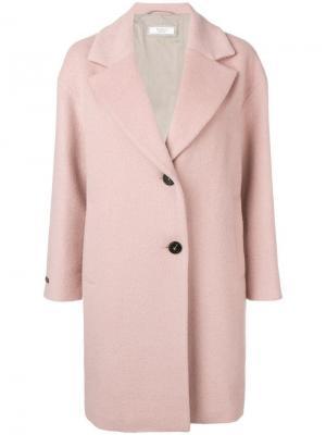 Однобортное пальто Peserico. Цвет: розовый