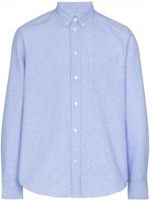 Рубашка оксфорд Adam Wood. Цвет: синий