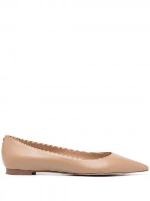 Балетки Stacey с заостренным носком Sam Edelman. Цвет: коричневый