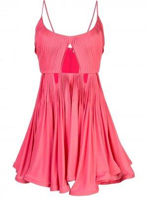 Платье Ballet Pump Mary Katrantzou. Цвет: розовый