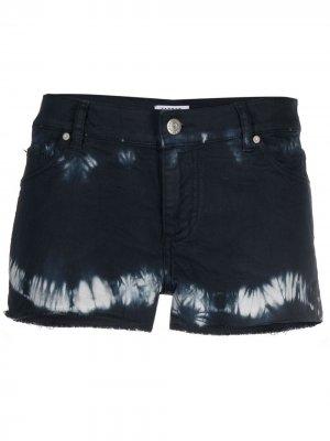 Джинсовые шорты с принтом тай-дай P.A.R.O.S.H.. Цвет: синий