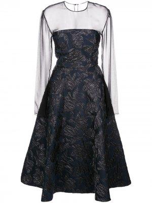 Платье миди А-силуэта Jason Wu Collection. Цвет: черный