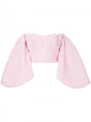 Блузка в полоску Globo Bambah. Цвет: розовый