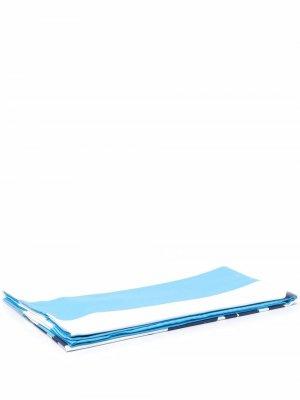 Пляжное полотенце Saint Barth в полоску Mc2. Цвет: синий