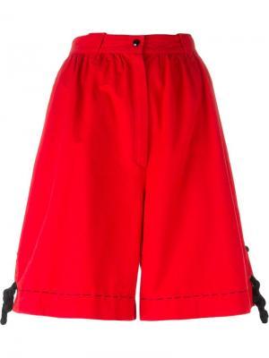 Широкие шорты Thierry Mugler Pre-Owned. Цвет: красный
