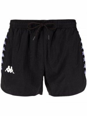 Плавки-шорты с логотипом Kappa. Цвет: черный