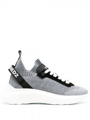 Кроссовки-носки Speedster Dsquared2. Цвет: серый