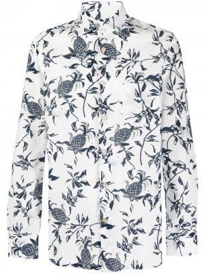 Рубашка с цветочным принтом Kiton. Цвет: белый