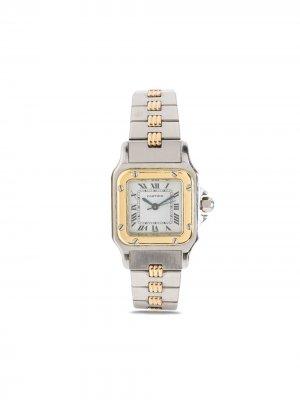 Наручные часы Santos pre-owned 23 мм 1990-х годов Cartier. Цвет: серебристый
