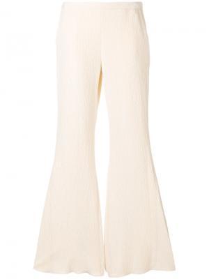 Фактурные расклешенные брюки Rosetta Getty. Цвет: нейтральные цвета