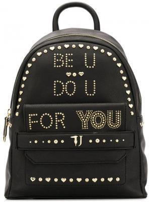 Be U studded backpack Trussardi Jeans. Цвет: черный
