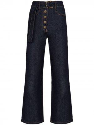 Широкие джинсы Emily с поясом Rejina Pyo. Цвет: синий