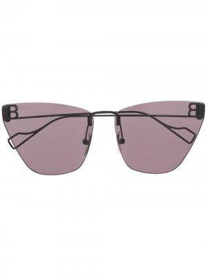 Солнцезащитные очки в безободковой оправе Balenciaga Eyewear. Цвет: черный