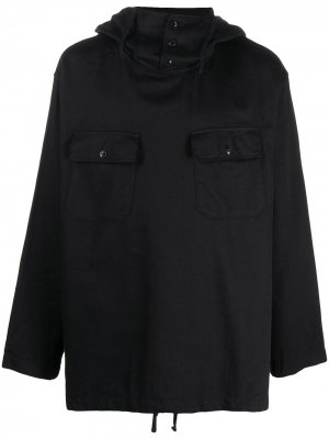 Джемпер оверсайз с капюшоном Engineered Garments. Цвет: черный