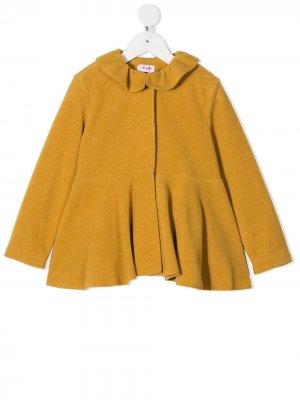 Пальто с воротником Питер Пэн Il Gufo. Цвет: желтый