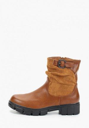Полусапоги Ideal Shoes. Цвет: коричневый