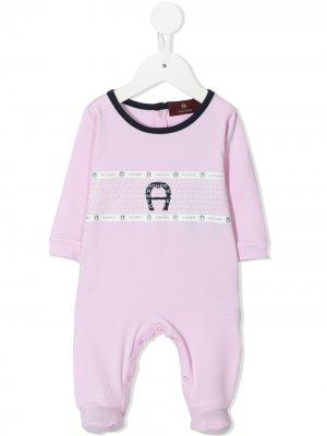 Комбинезон для новорожденного с логотипом Aigner Kids. Цвет: розовый