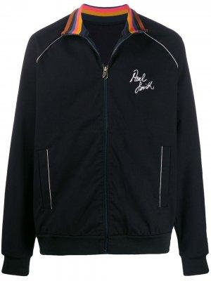 Спортивная куртка с логотипом PAUL SMITH. Цвет: черный