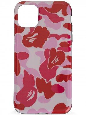 Чехол для Phone 11 с камуфляжным принтом A BATHING APE®. Цвет: розовый