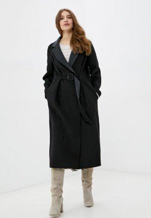 Пальто Manila Grace. Цвет: черный