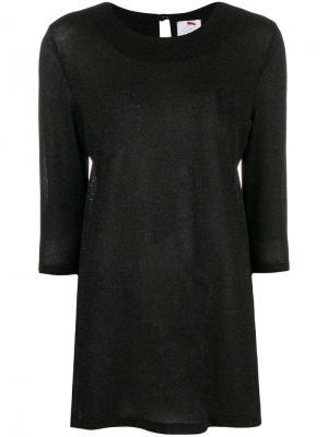 Свободная футболка Ultràchic. Цвет: черный