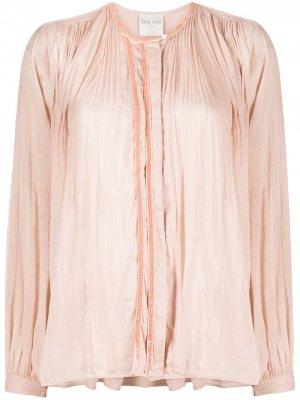 Расклешенная блузка с длинными рукавами Forte. Цвет: розовый