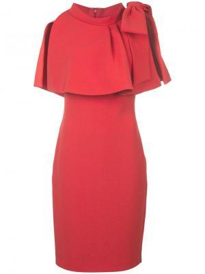 Платье-мини прямого кроя Badgley Mischka. Цвет: красный