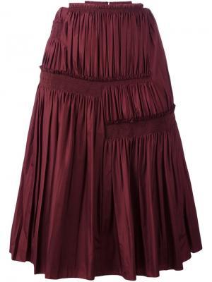 Плиссированная юбка Nina Ricci. Цвет: красный
