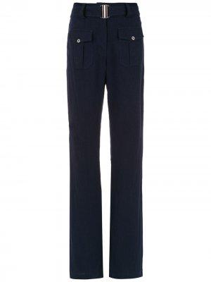 Расклешенные брюки Roma Olympiah. Цвет: синий