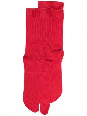 Носки Tabi Maison Margiela. Цвет: красный