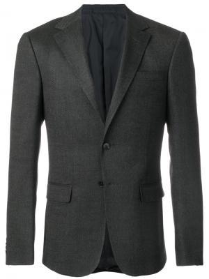 Пиджак с карманами клапанами Z Zegna. Цвет: серый