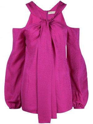 Блузка с открытыми плечами и завязками Emilio Pucci. Цвет: розовый