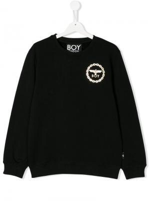 Eagle print sweatshirt Boy London Kids. Цвет: черный