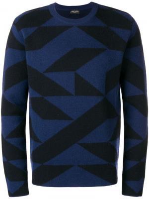 Qube crew neck sweater Roberto Collina. Цвет: черный