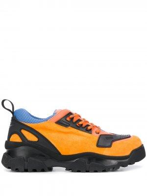 Кроссовки с контрастными вставками RZ studio. Цвет: оранжевый