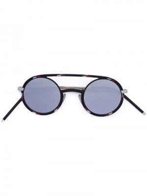 Солнцезащитные очки круглой формы Dior Eyewear. Цвет: черный