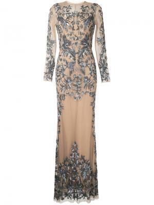 f65d5ea1f32 Телесное вечернее платье с блестящей отделкой Zuhair Murad. Цвет  none