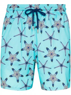 Плавки-шорты Mahina с принтом Vilebrequin. Цвет: синий