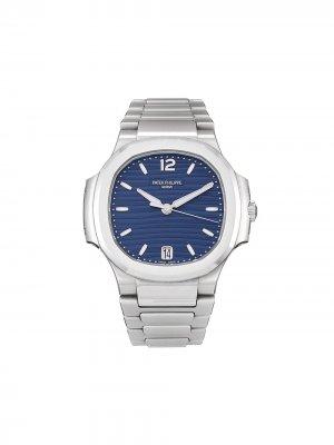 Наручные часы Nautilus pre-owned 35.2 мм Patek Philippe. Цвет: синий