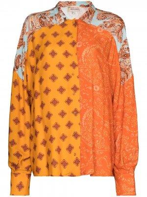Рубашка с принтом пейсли Esteban Cortazar. Цвет: оранжевый