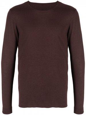 Джемпер тонкой вязки Roberto Collina. Цвет: коричневый